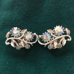 Vintage Coro Aurora Borealis earrings
